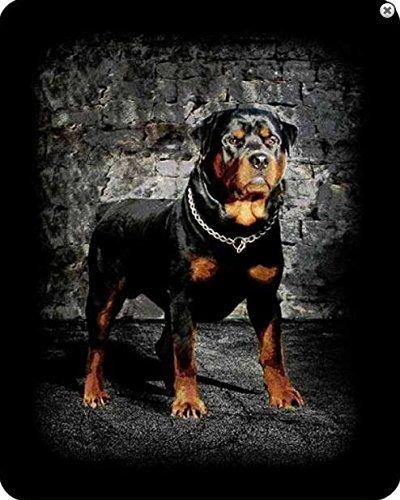 Regal快適Rottweiler Dog Fauxファー高級毛布med重量Blanket B01417LV2I