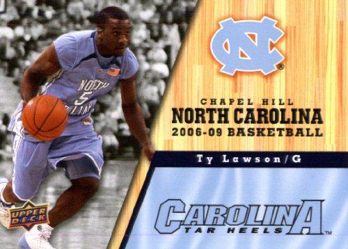 (2010/11 Upper Deck North Carolina Basketball # 80 Ty Lawson )