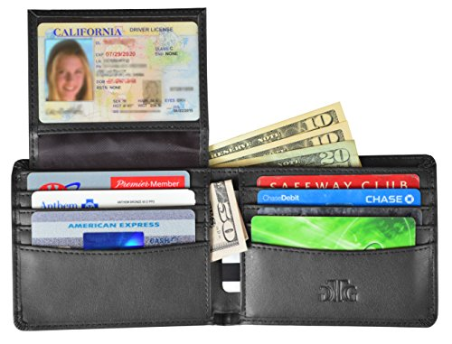 RFID Blocking Wallet for Men - Stylish Genuine Leather Bifold Men's Wallet - Our RFID Wallet uses th