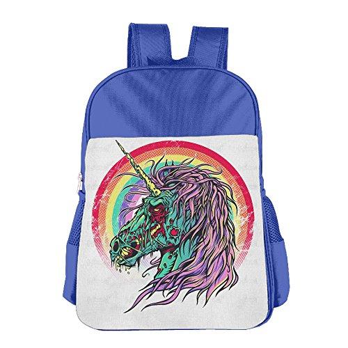 Adult Zombie Penguin Costumes (Zombie Unicorn Kids Schoolbag School Bag Shoulders Bag For 4-15 Years Old RoyalBlue)