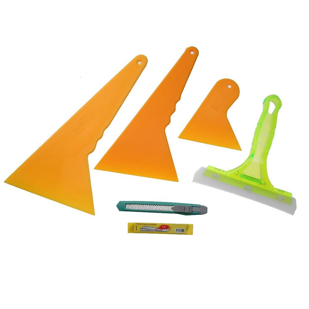sikiwind 6pcs Auto Car Window Scraper Wrapping Film Application Squeegee Tools Kit