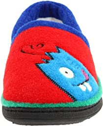 ACORN Monster Moc Slipper,Red,9.5-10.5 M US Toddler