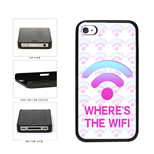 BleuReign(TM) Funny Where's The Wifi Plastic Phone Case Back Cover Apple iPhone 4 4s