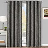 Pair of Two Top Grommet Blackout Thermal Insulated Curtain Panels, Triple-Pass Foam Back Layer, Elegant and Contemporary Galleria Tonal Stripes Blackout Panels, Gray, Set of Two 54″ by 95″ Panels (108″ by 95″ Pair) Review