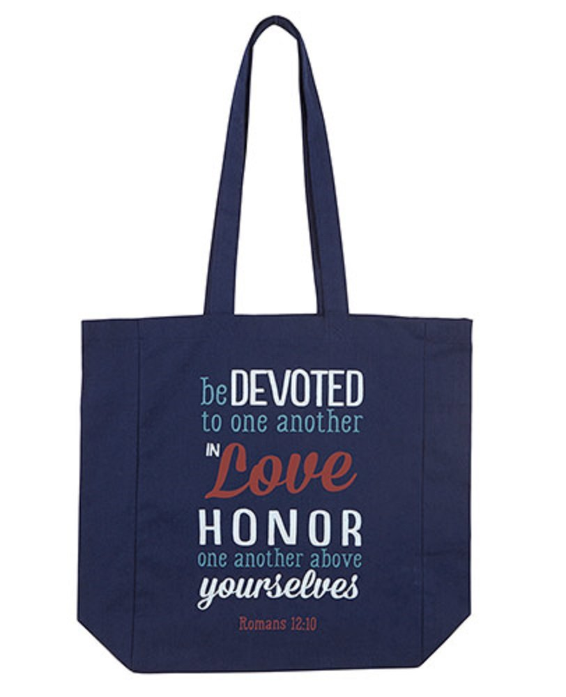 Be Devoted To One Another Tote Bag, Set of 2.