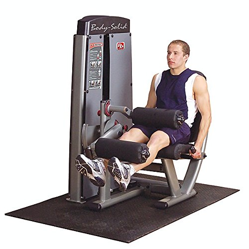 Body Solid DLECSF ProClub Line Pro Dual Leg Extension/Curl Machine with Self-Adjusting Leg Pad and Adjustable Thigh