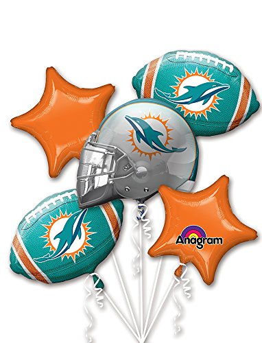 Miami Dolphins Party Decorations (Anagram 3141201.0 BOUQUET DOLPHINS, One size,)