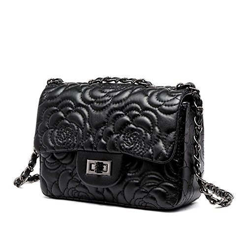 Small Gold Chain Quilted Shoulder Bag Mini Cross Body Women Handbag Clutch Classic Evening Bag (20147cm),Black-OneSize (Envelope Style Convertible Clutch)