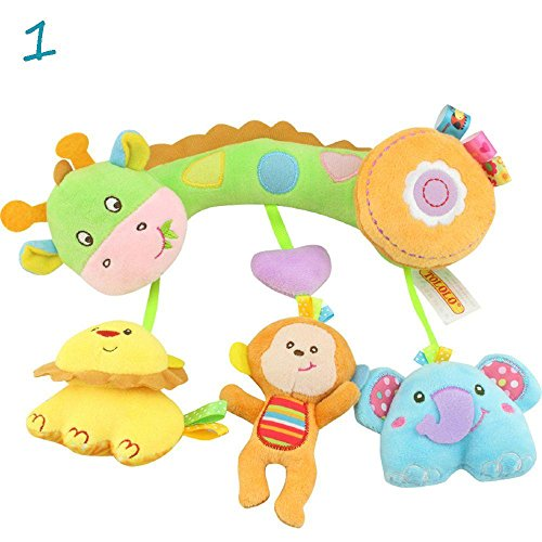 Sbeautli New Soft Plush Infant Cot Crib Mobile Stroller Hanging Toy Lathe Playing Doll Dolphin