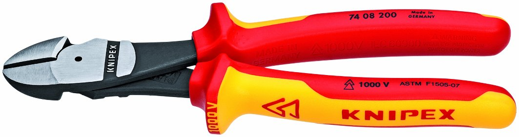 KNIPEX 74 08 200 US 1,000V Insulated High Leverage Diagonal Cutters