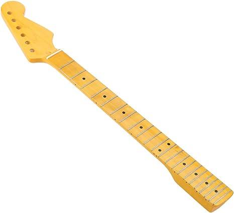 ammoon 22 Trastes Reemplazo Arce Cuello Diapasón para Guitarra ...