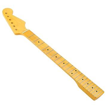 ammoon 22 Trastes Reemplazo Arce Cuello Diapasón para Guitarra Eléctrica ST