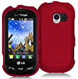 Red Rubberized Hard Case Cover for Verizon LG Extravert VN271