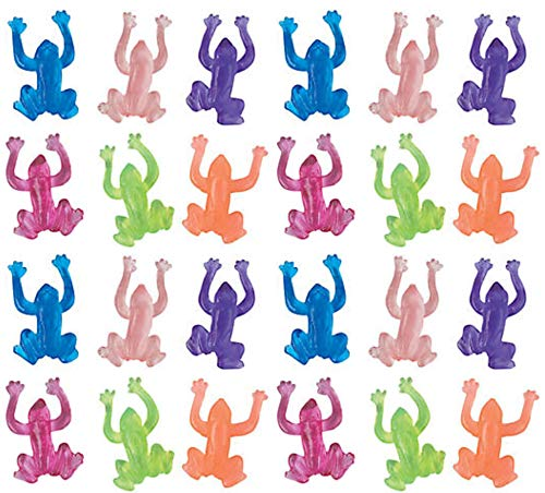 (The Dreidel Company Stretchy Sticky Frogs Passover Toys - Set of 24)