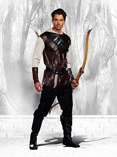 Fairytale Costumes - Dreamguy Men's The Huntsman Fairytale Hunter Costume, Brown, XX-Large