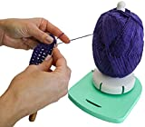 "Yarn Dispenser by Yarn Valet – Non-Slip Base with Built-In Holder for Markers, Pattern and 4"" Gauge Ruler"