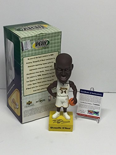 Shaq Shaquille O'Neal Signed Lakers Basketball Premium Playmakers Bobblehead - PSA/DNA Certified - Autographed NBA Figurines ()