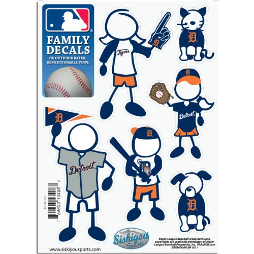 MLB Detroit Tigers Small Family Decal -