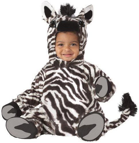 California Costumes Zebra Jumpsuit, White/Black, 18-24 months (Zebra Costumes For Toddlers)