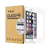 ISKIP [2 Pack] Screen Protectors for iPhone 7 8, Full Coverage 3D Tempered Glass Protective Film Edge to Edge Protection [Soft Edge Hybrid] for iPhone 7 8 Tempered Glass 4.7'' (White)