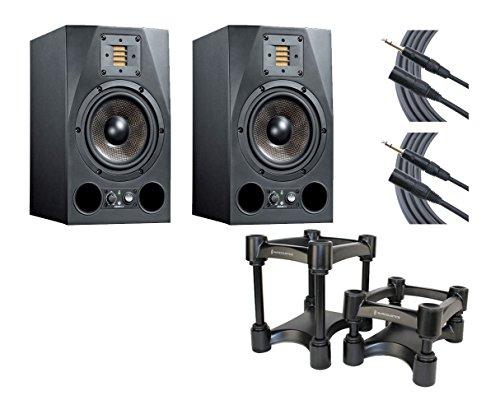 Adam A7X Studio Monitor Pair + IsoAcoustics Decoupler Stands + Mogami Cables