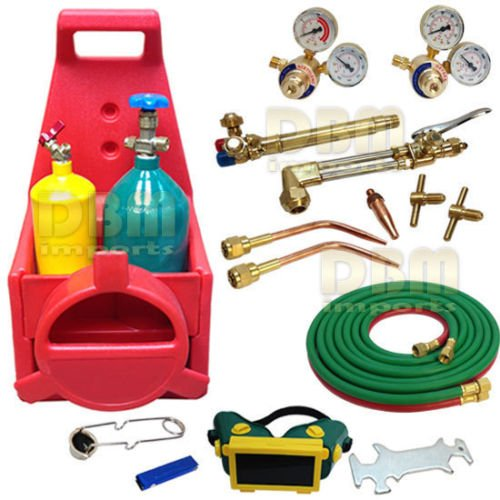 PORTABLE OXYGEN ACETYLENE OXY WELDING CUTTING WELD TANK TORCH KIT (Oxy Acetylene Tanks compare prices)
