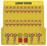 Master Lock 20 Pack Lockout Station with Cover, Includes 20 Steel Padlocks