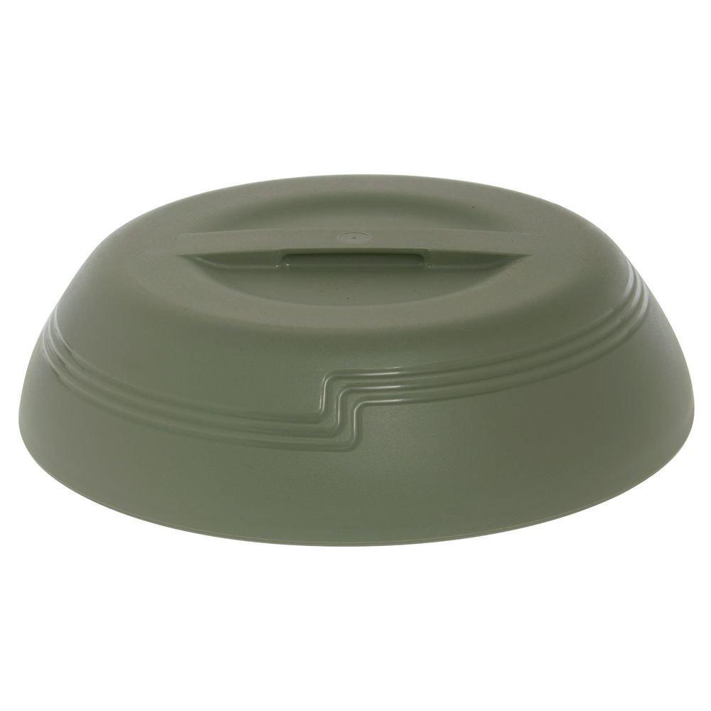 Cambro Shoreline Collection Low-Profile Meadow Green Plastic Insulated Dome - 10 3/8 Dia x 2 3/4 H
