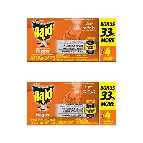 Raid Concentrated Pest Control Deep Reach Fogger 1.5 Ounces 4 count (2 pack) ()