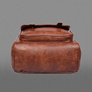 Backpacks Imido Backpacks For Men Bag Pu Black Leather Mens Shoulder Bags Fashion Male Business Casual Teenage School Bag Brown Sld088