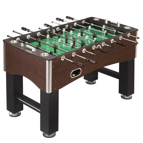 Best Foosball Tables - Hathaway 56-Inch Primo Foosball Table, Family Soccer Game with Wood Grain Finish, Analog Scoring and Free Accessories