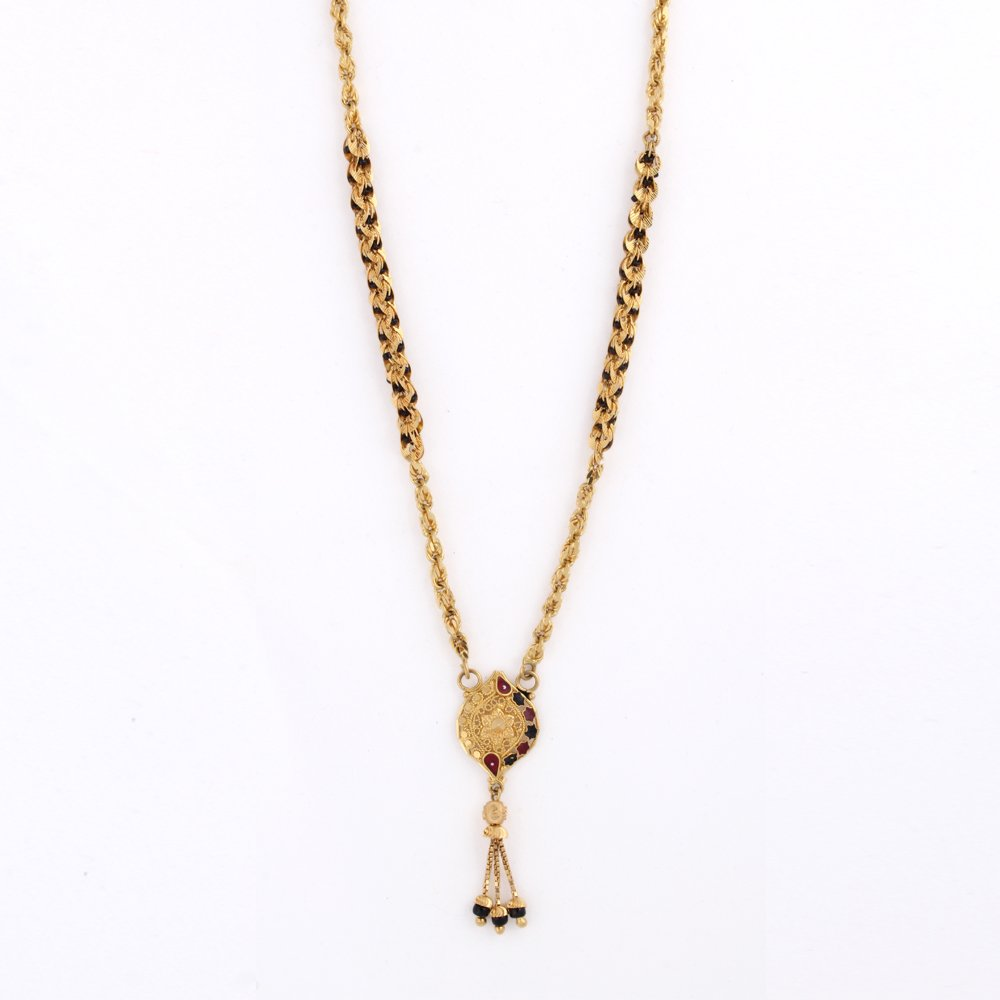 Buy Whp Jewellers 22k Yellow Gold Mangalsutra Necklace