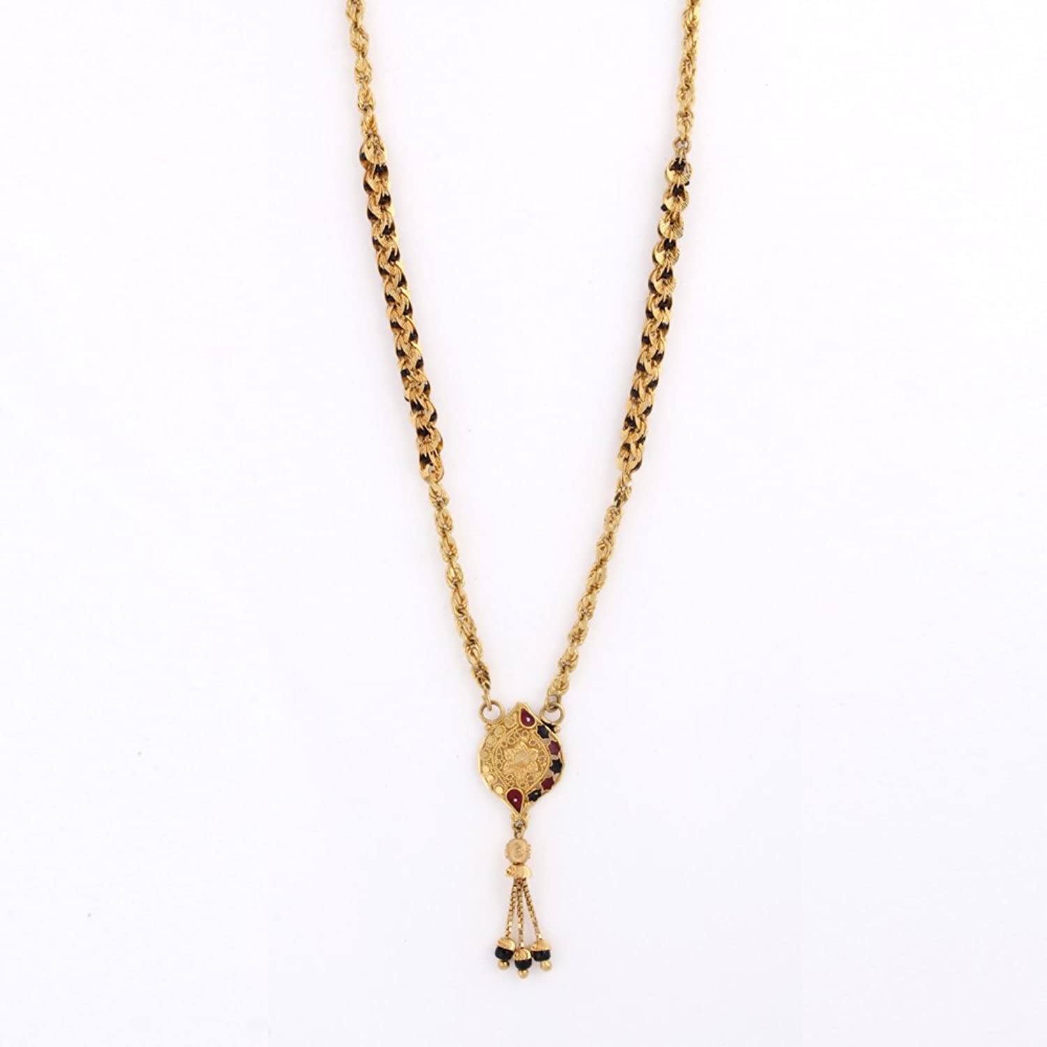 Buy WHP Jewellers 22k Yellow Gold Mangalsutra Necklace Online at ...