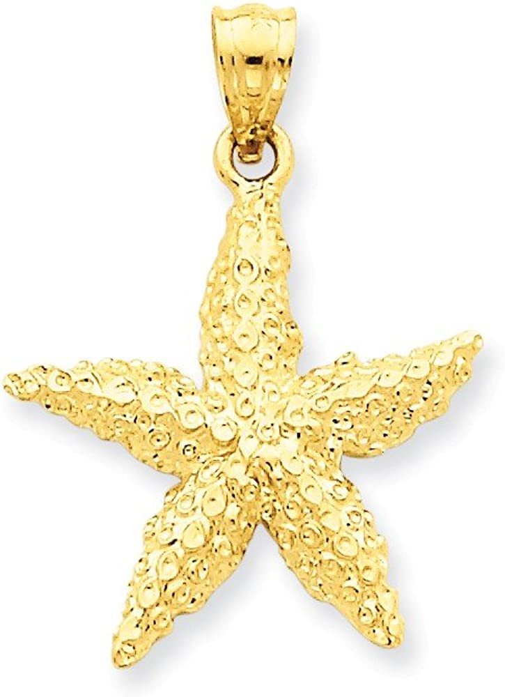 9.75 x 8 mm Small Starfish Dangle 14 20 Jewelry Nautical Necklace Findings 14 K Gold Filled Tiny Star Charms