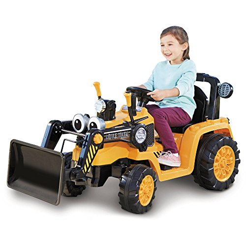 Little Tikes Ruggedly Cozy Dirt Digger Powered Kids Ride-on with Movabale Scoop, Durable Quiet Ride Tires, Adjustable Seat, 2 Speed Control and Power Lock Breaks. (Little Tikes Dirt Diggers)