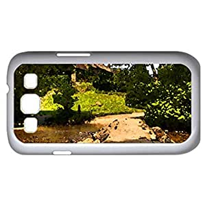 tarr steps a bridge on the river barle england (Bridges Series) Watercolor style - Case Cover For Samsung Galaxy S3 i9300 (White)