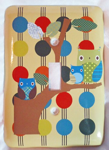 Tree Top Friends Owl (Owl Treetop Forest Friends Wall Plate Single Toggle Switch Plate)