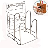 Cutting Board Holder Stand - Stainless Steel Rust-proof Chopping Board Pot Knife Rack Kitchen Organizer (Kitchen Organizer)