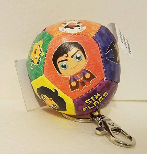 six-flags-magic-mountain-justice-league-multi-character-ball-patch-keychain