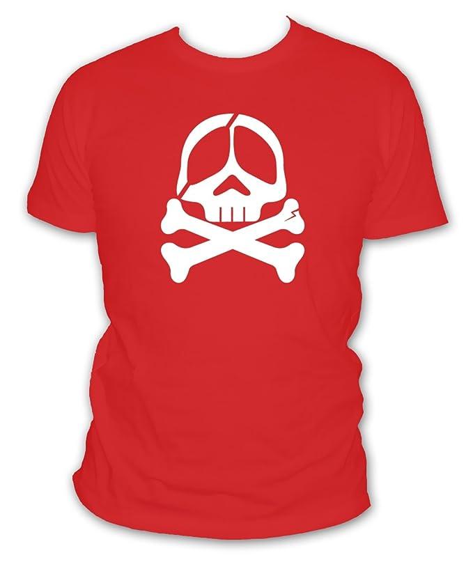 L abricot blanc T-shirt Geek Tête De Mort Albator Borgne - Manches courtes  - Homme - S - XXXXL et 5XL  Amazon.fr  Vêtements et accessoires afb4e0c344c1