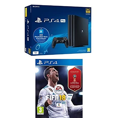 Playstation 4 Pro (PS4) - Consola de 1TB + 20 live card (Edición ...