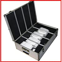 1000 Cd DVD Silver Aluminum Hard Case for Media Storage Holder w/ Hanger Sleeves