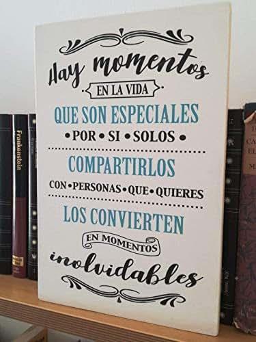 Letrero de Madera con Frases. Mensajes Positivos e
