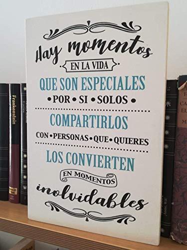 Letrero De Madera Con Frases Mensajes Positivos E