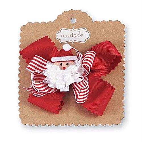 Christmas Baby Girl 3-in-1 Holiday Hair Bows, Santa (Hair Pie)