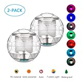 Sanyi Solar Pond Light Floating Light Waterproof Pool Lights Floating Night Light with Color Changing for Swimming Pool Pond Fountain Garden Party Home Decor (2-Pack)