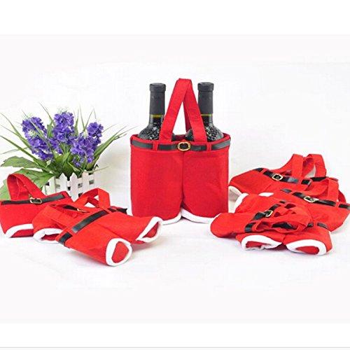 Pants Playset - wiwanshop Red Nylon Santa Pants Candy Bags For Christmas Gift Multifunction Bar Accessories