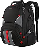 Large Laptop Backpack,High Capacity TSA Durable Luggage Travel Backpacks,Water Resistant Extra Big Student College School Backpack for Women Men with USB Port, Fits 17 inch Laptop & Notebook,Black