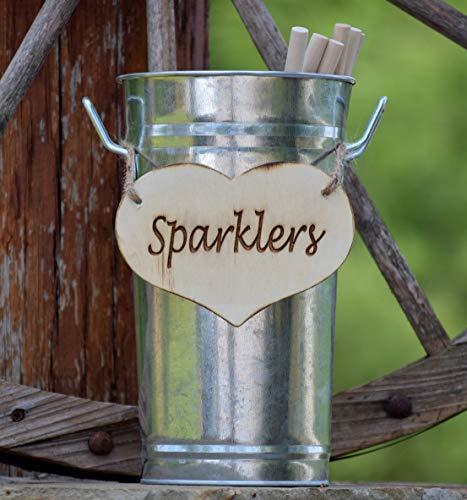 Wedding Sparklers Holder - Rustic Wedding - Large Sparkler Bucket - Long wedding sparklers - Sparklers Pail - Wedding Sparklers