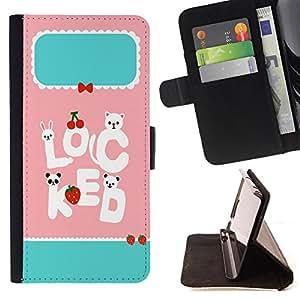 Dragon Case - FOR Samsung Galaxy S5 Mini, SM-G800 - stay with each other - Caja de la carpeta del caso en folio de cuero del tir¨®n de la cubierta protectora Shell